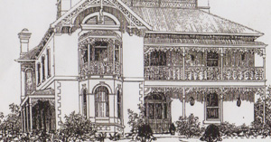 An early sketch of the house