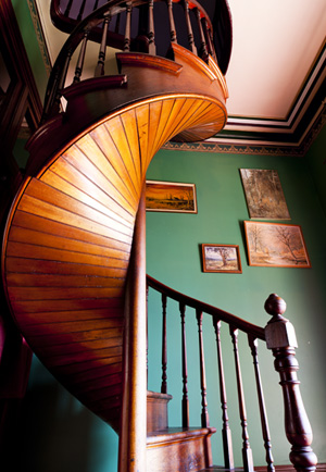 The magnificant cedar staircase